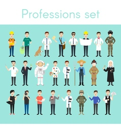 Set of different colorful man professions cartoon vector
