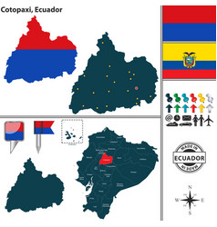 Map of cotopaxi ecuador vector