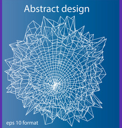 Abstract distorted sphere wireframe style vector