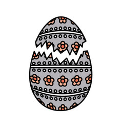 Happy easter egg painted vector