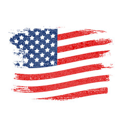 usa flag grunge background can be used as banner vector image