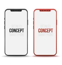 Set of conceptual smart phone mock up vector