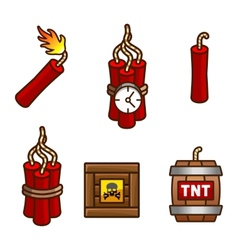 Tnt and dynamite set vector image