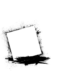 Grunge ink blots white vector