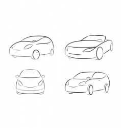 cartoon silhouette of a car vector image
