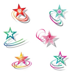 Star design elements set vector