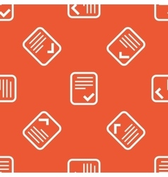 Orange approved document pattern vector
