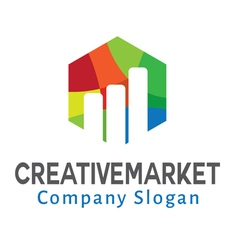 Creative market design vector