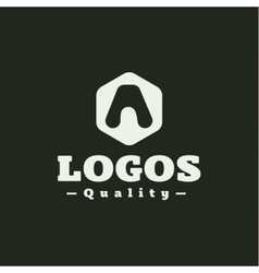 Logo letter a flat style vector