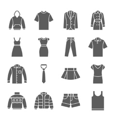 Fashion and clothes icons vector image