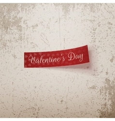 Valentines day realistic red ribbon vector