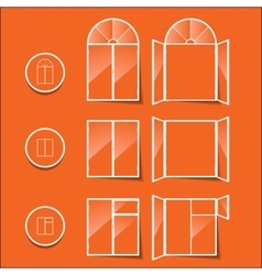 Windows icon isolated on a orange background vector