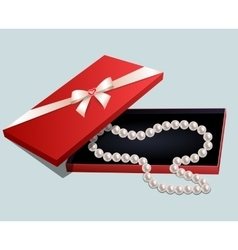 Necklace in gift box vector