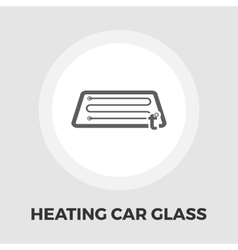 Heating automotive glass flat icon vector