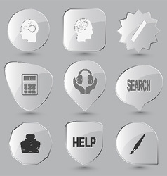 Glass buttons vector