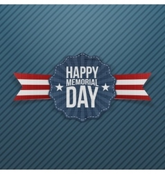 Happy memorial day national banner with text vector