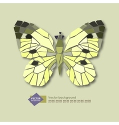 Abstract stylized butterfly on a light background vector
