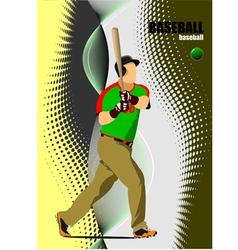 al 1008 baseball 01 vector image vector image