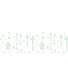 Arrows flying up textile textured horizontal vector