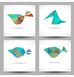 Backgrounds with abstract triangle birds vector image vector image