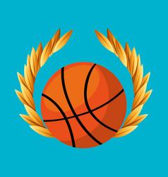 Basketball sport emblem icon vector