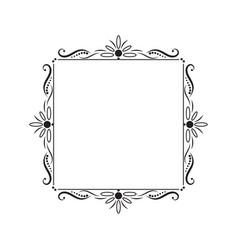 black vintage square contour frame vector image