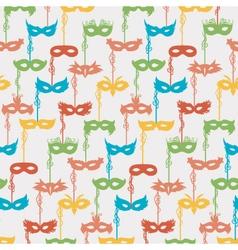 carnival masks pattern vector image