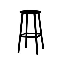 chair symbol on white backgroundbar stool icon vector image vector image