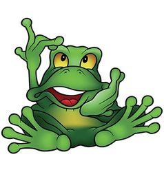 Chatty frog vector