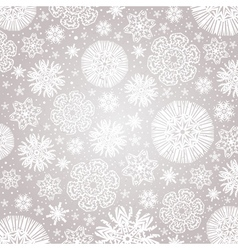 Christmas snowflakes over grey background vector image vector image