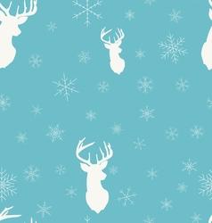 Christmas winter seamless pattern head deer vector