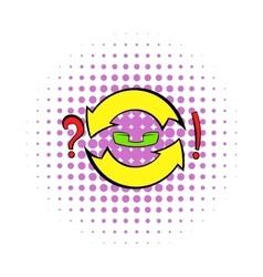 Circular arrow question and exclamation mark icon vector image