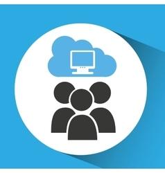 Cloud connection social media computer vector