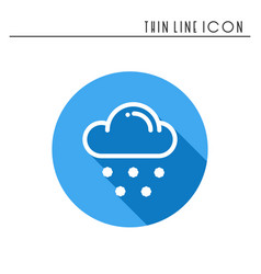 Cloud sky snow line simple icon weather symbols vector