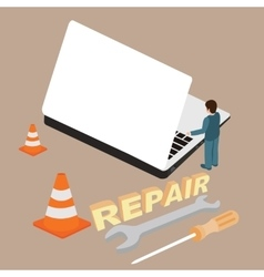 computer laptop repair service maintenance vector image vector image