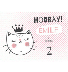 emilie cat vector image vector image