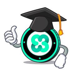 Graduation ethos coin character cartoon vector