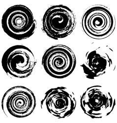 Grunge spiral vector