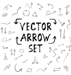 Handdrown Handmade Arrow Huge Isolated Set vector image