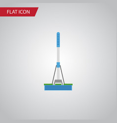 isolated mop flat icon cleaning element vector image vector image