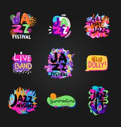 Jazz blackboard set vector