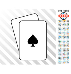 peaks suit cards with bonus vector image vector image