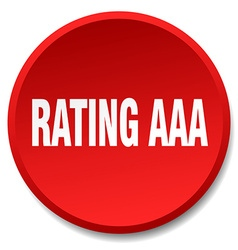Rating aaa red round flat isolated push button vector