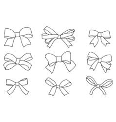 Set of bows vector image
