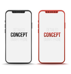 Set of conceptual smart phone mock up vector