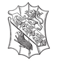 Shield of abbot ramryge are escutcheon field vector