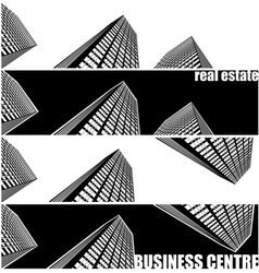 skyscrapers and real estate vector image vector image