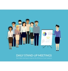 Stand-up meeting vector