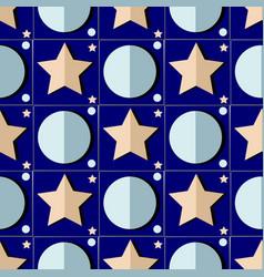 Starry night seamless pattern vector