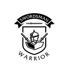 Swordsman warrior logo vector